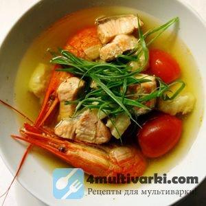 Рыбный суп в мультиварке варим на курином бульоне