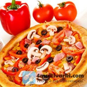 Несложный рецепт пиццы в мультиварке