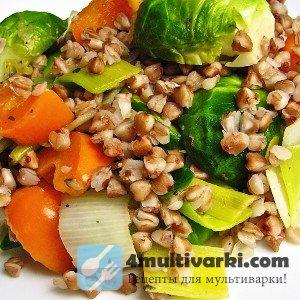 Рассыпчатая гречка в мультиварке с овощами