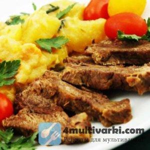 Соус с хреном и картошка с мясом в мультиварке