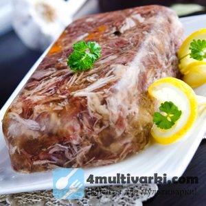 Рецепт холодца в мультиварке из говядины со свининой