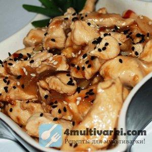 Рецепт куриного филе с кунжутом в мультиварке