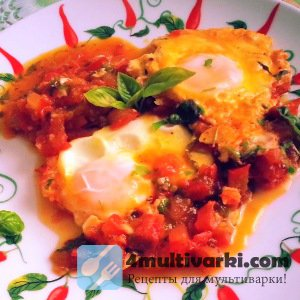Шакшука: помидорно-перечная яичница в мультиварке