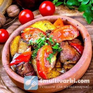 Грузинский рецепт картошки с мясом в мультиварке