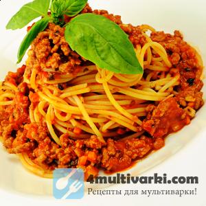 Готовим спагетти болоньезе в мультиварке