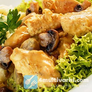 Рецепт куриного филе в мультиварке с грибным соусом