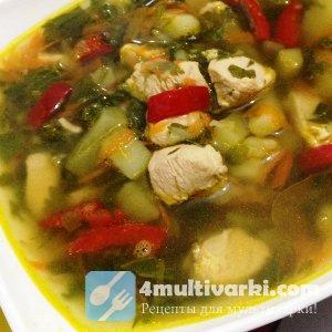Июньский рецепт супа в мультиварке