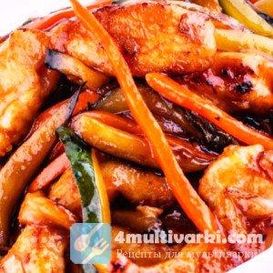 Овощи с курицей в мультиварке по-молдавски