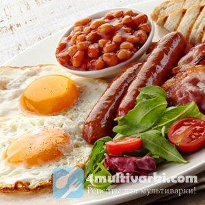 Английские блюда в традиционном английском завтраке