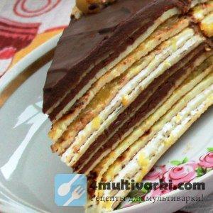 Домашний блинный торт с шоколадом