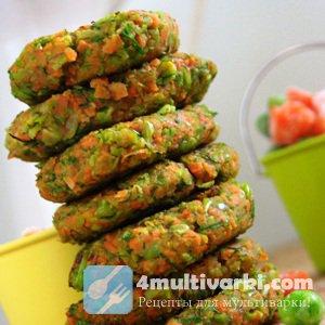 Рецепт постных котлет из моркови и горошка