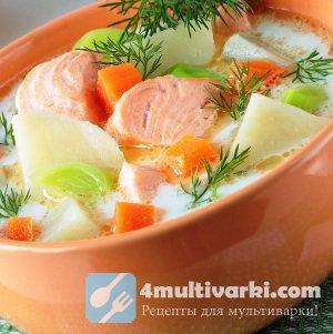 Рыбный суп из горбуши и овощей