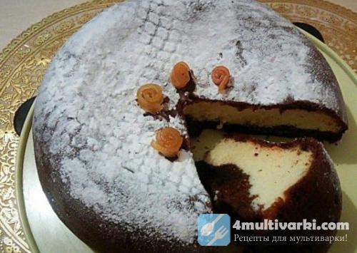 Творожный торт с шоколадом в мультиварке