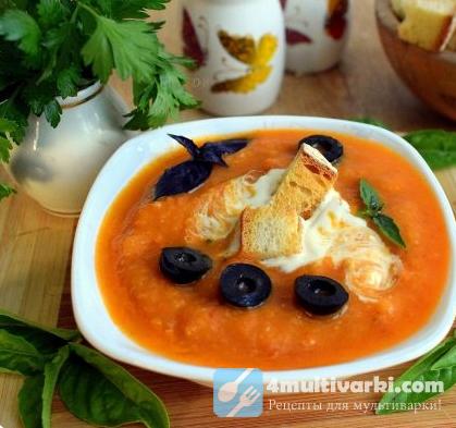 Холодный суп из кабачковой икры