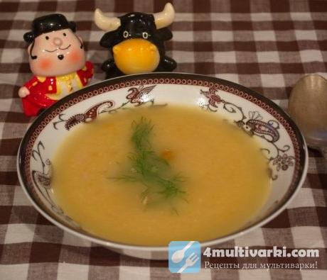 Суп-пюре с копченой курицей