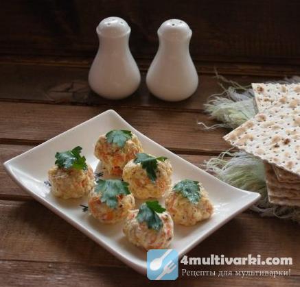 Еврейская закуска с сыром, морковью и чесноком
