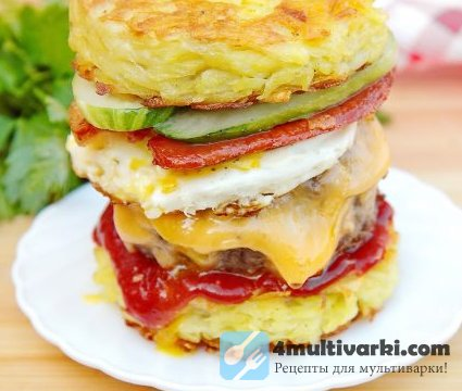 Бургер на завтрак «Башня на рассвете»