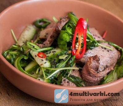 Пикантный салат с говядиной